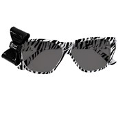 Zebra Print Nerd Glasses with Bow