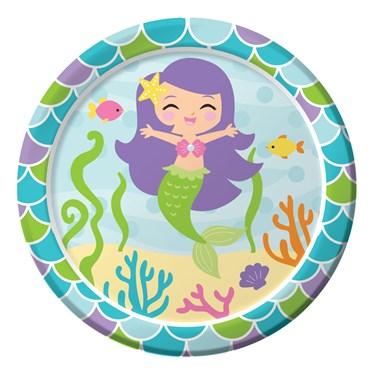 "Mermaid Friends 7"" Cake Plates (8)"