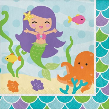 Mermaid Friends Lunch Napkins (16)