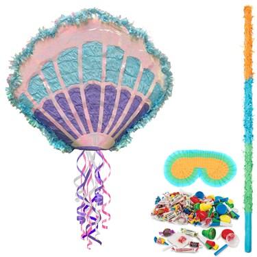 Mermaid Sea Shell Pull String Pinata Kit