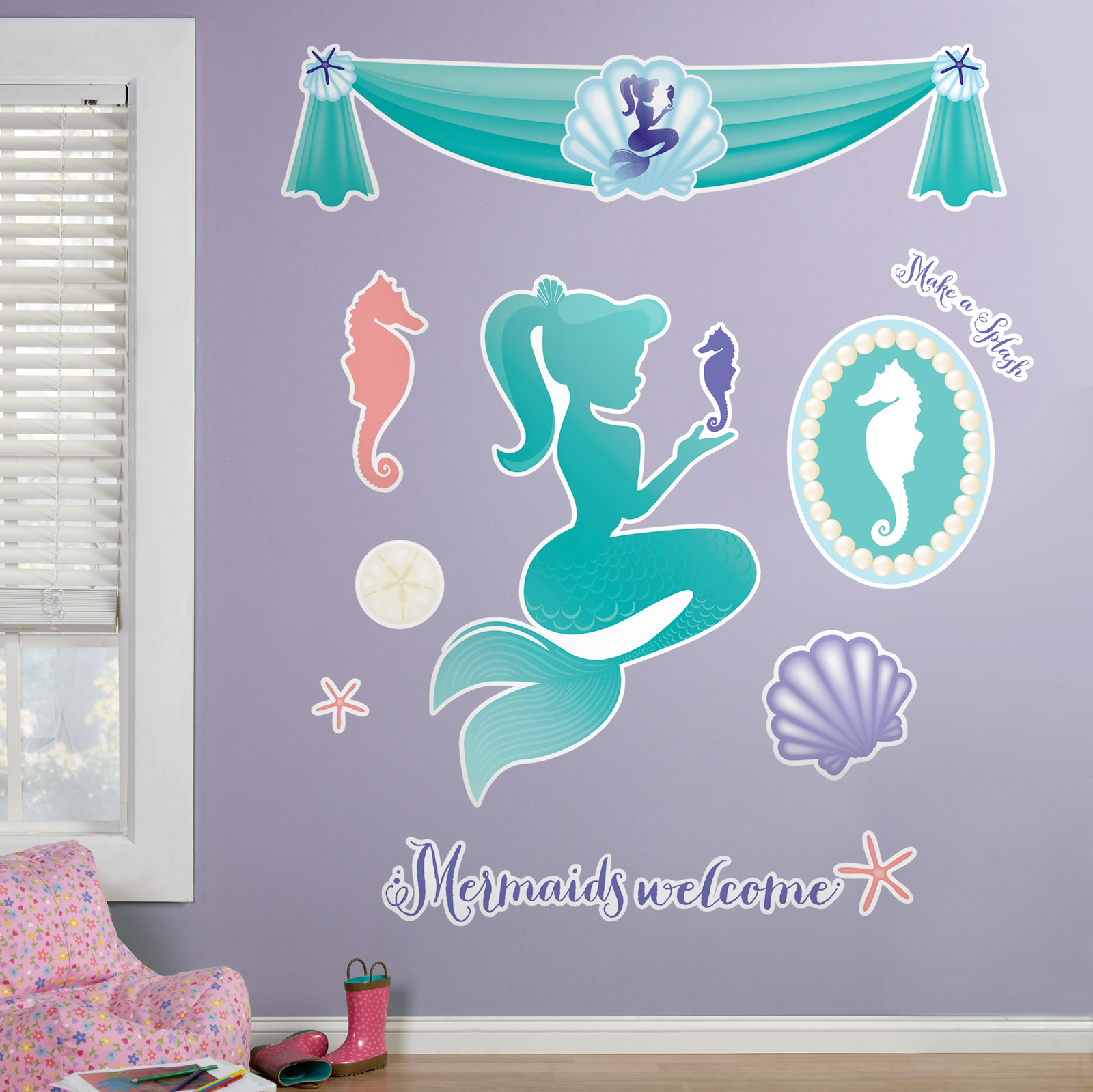 Good Default Image   Mermaids Under The Sea Giant Wall Decals Part 5