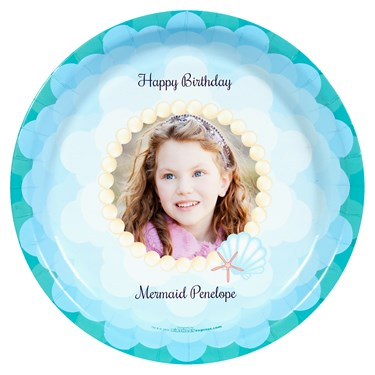 Mermaids Under the Sea Personalized Dinner Plates (8)