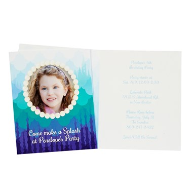 Mermaids Under the Sea Personalized Invitations (8)