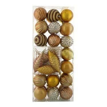 Metallic Assorted Ornament Set (42)