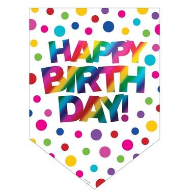Metallic Rainbow Happy Birthday Door Sign
