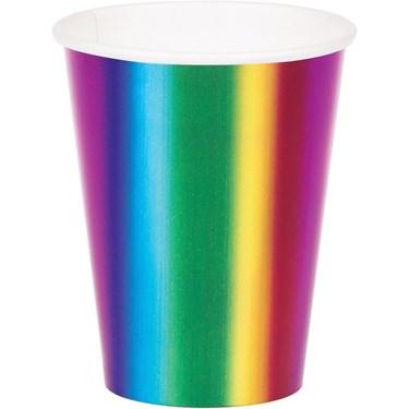 Metallic Rainbow Hot/Cold 9oz Cups