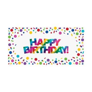 Metallic Rainbow Large Happy Birthday Banner