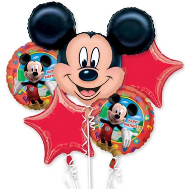 Mickey Mouse Mylar Balloon Bouquet