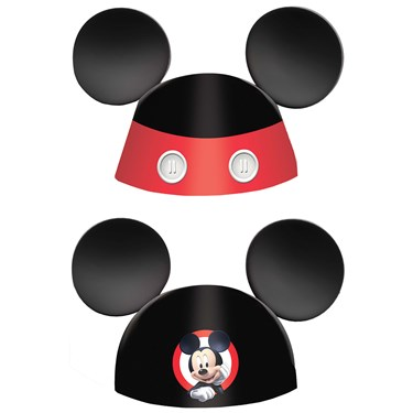 """Mickey On The Go 6"""" Cone Hats (8)"""