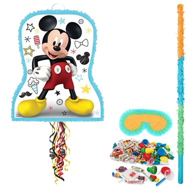 Mickey On The Go Pull String Pinata Kit