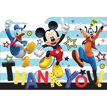 Mickey On The Go Thank You Cards (8)