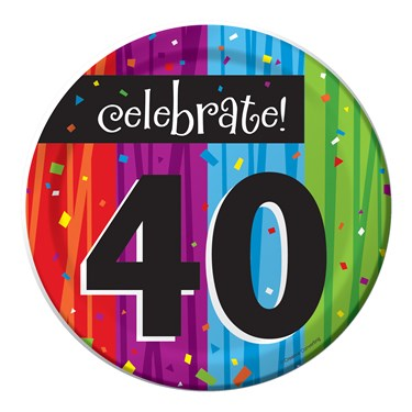 "Milestone Celebrations ""40"" Dessert Plates (8)"