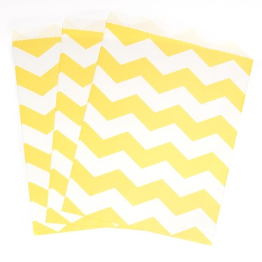 Mimosa Chevron Paper Treat Bags (10)