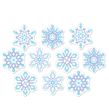 Mini Snowflake Cutouts (10)