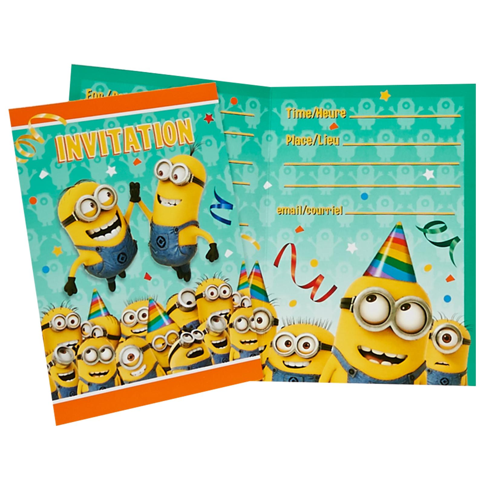 Minions Despicable Me Invitations BirthdayExpresscom