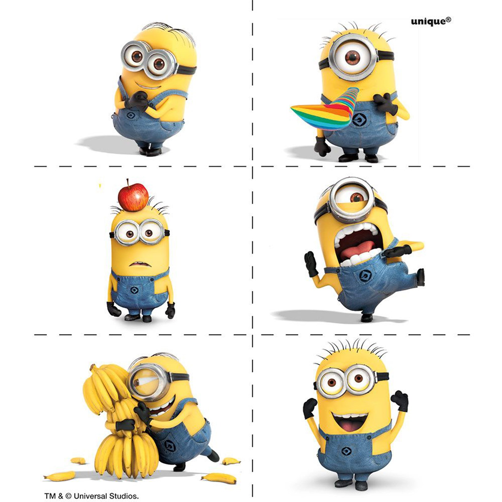 Minions Despicable Me - Tattoos (4) | BirthdayExpress.com