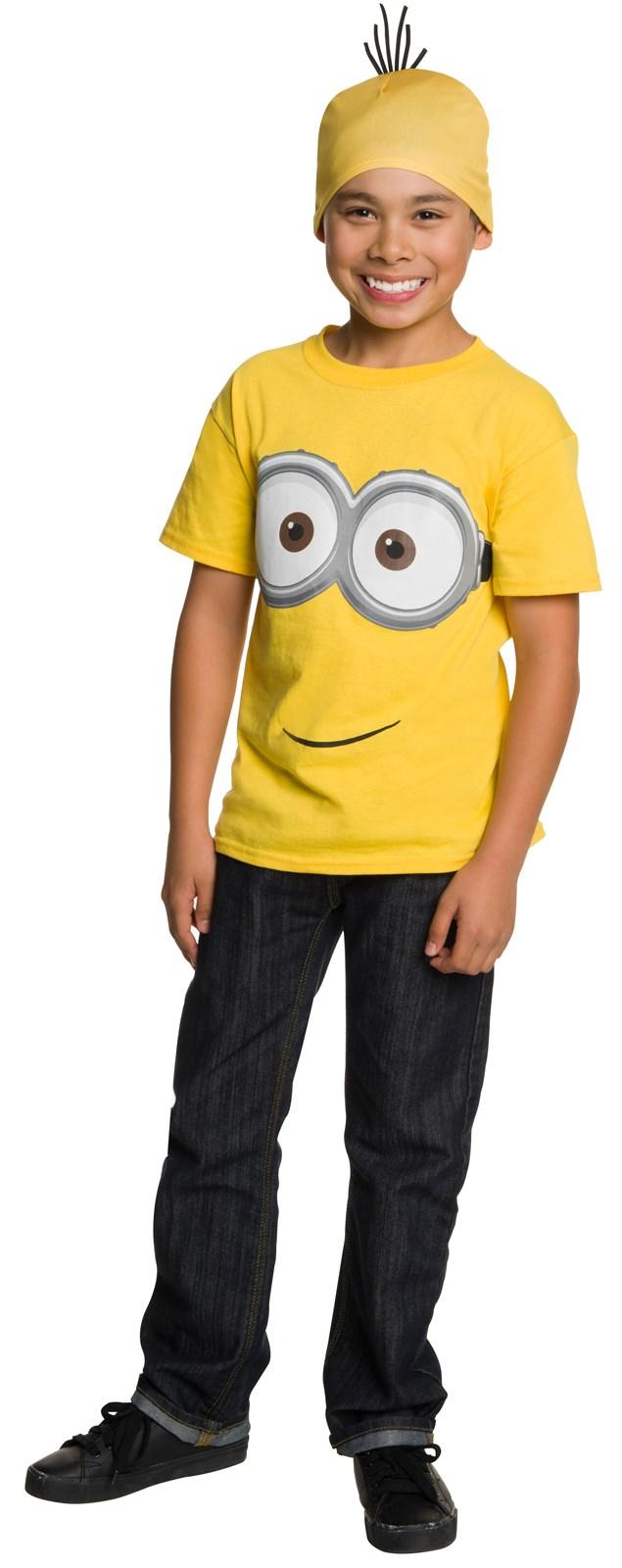 minions movie minion t shirt headpiece for kids. Black Bedroom Furniture Sets. Home Design Ideas
