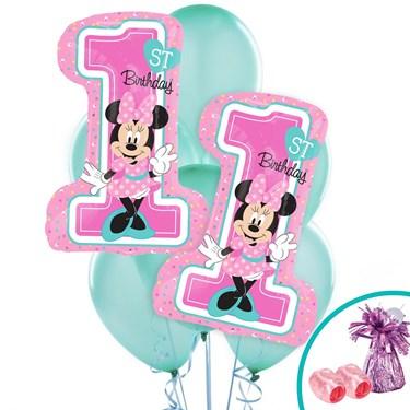 Minnie 1st Birthday Jumbo Balloon Bouquet Kit