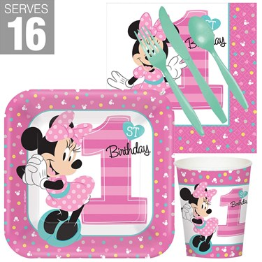 Minnie 1st Birthday Snack Pack For 16