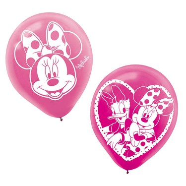 Minnie Mouse 12 Latex Balloons (6)