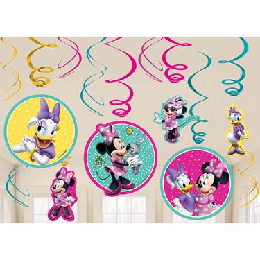 Minnie Mouse Helpers Hanging Swirl Decorations