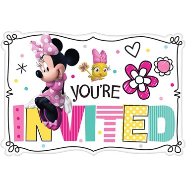 Minnie Mouse Helpers Invitations (8 )