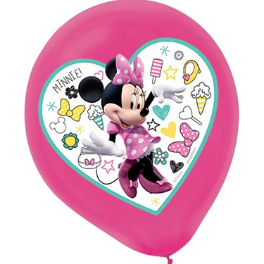 Minnie Mouse Helpers Latex Balloons (5 )