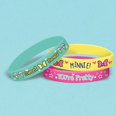 Minnie Mouse Helpers Rubber Bracelets (6 )
