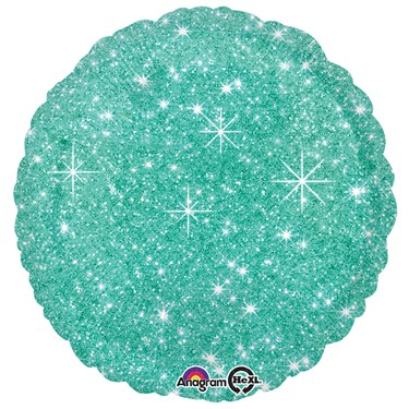 "Mint Green Sparkle 17"" Balloon"