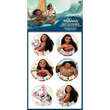 Moana Party Stickers(24)