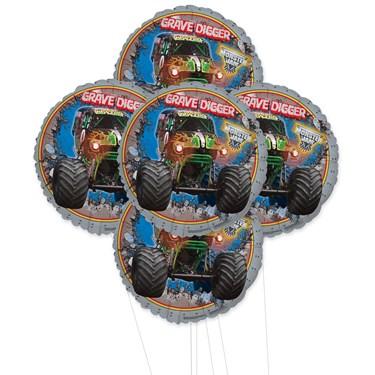Monster Jam 3D 5pc Foil Balloon Kit