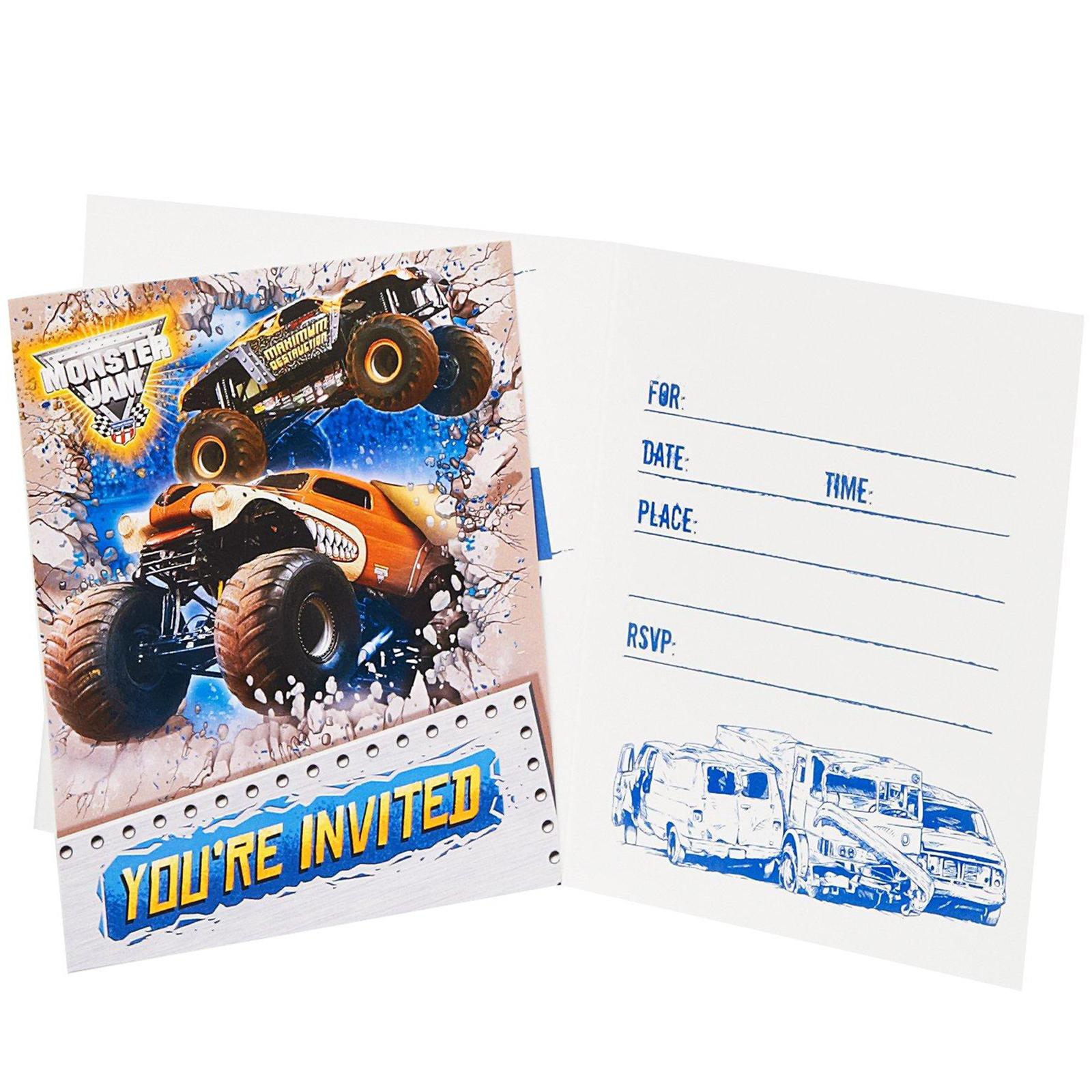 Monster Jam 3D Invitations BirthdayExpresscom