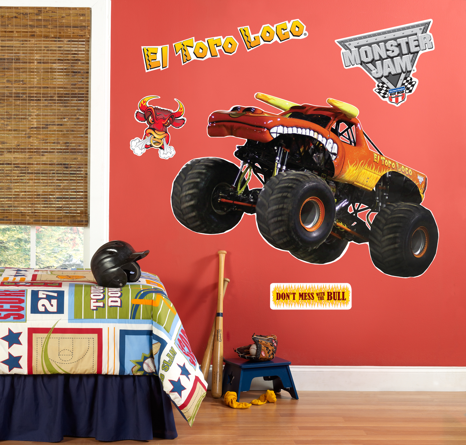 Monster Truck Wall Stickers Part - 48: Default Image - Monster Jam El Toro Giant Wall Decal