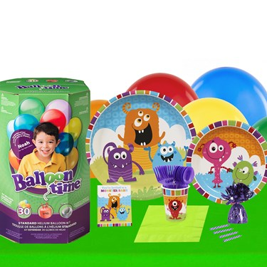 Monsters 16 Piece Tableware & Helium Tank