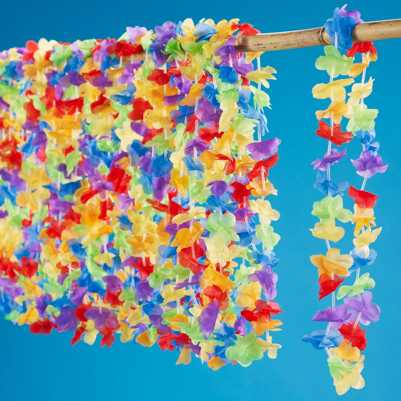 "Multi Colored 36"" Flower Leis"