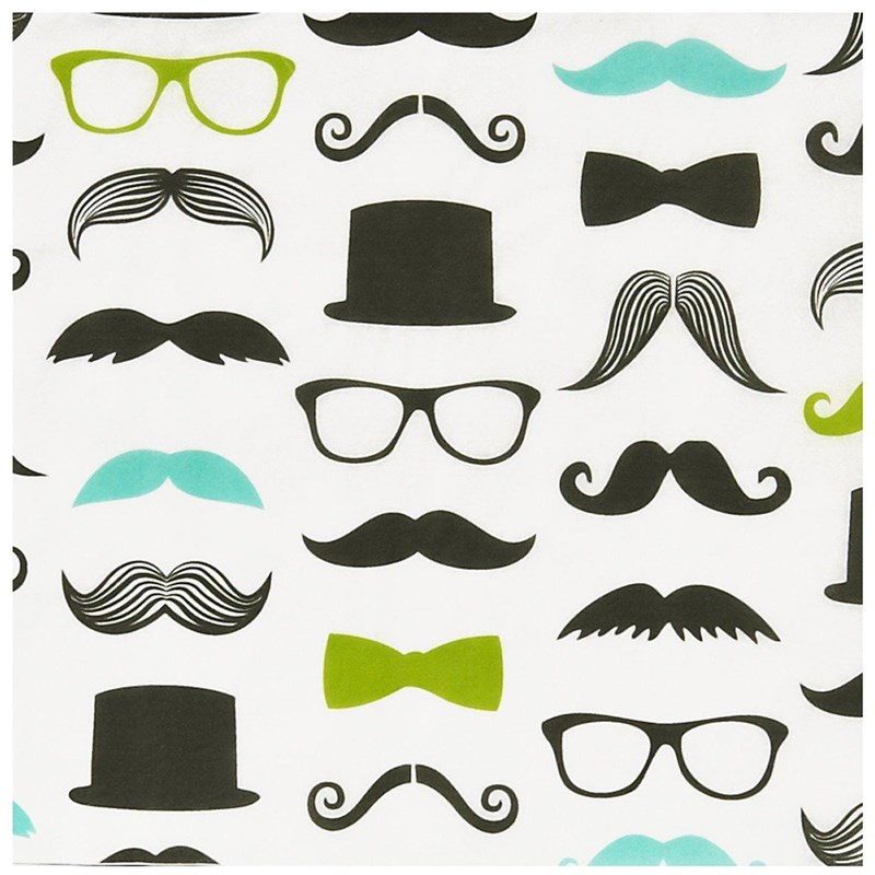 Mustache man lunch napkins 20 birthdayexpress com