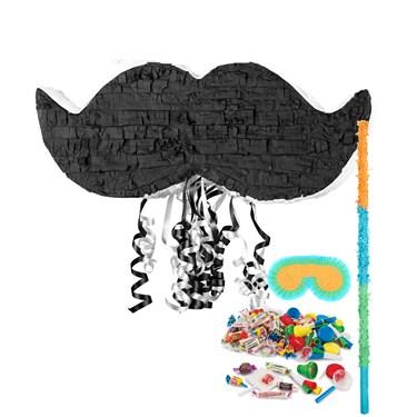 Mustache Pinata Kit