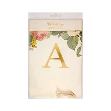 My Mind's Eye Botanical Wedding Alpha Letter Banner