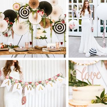 My Mind's Eye Botanical Wedding - Cake Table Decor Set