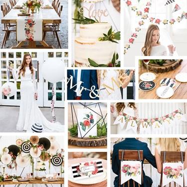 My Mind's Eye Botanical Wedding - Head/Guest/Cake Table Decor Set & Coasters