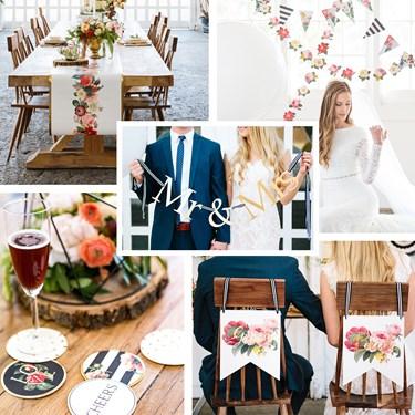 My Mind's Eye Botanical Wedding - Head Table Decor Set