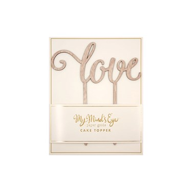 My Mind's Eye Botanical Wedding Love Wood Cake Topper