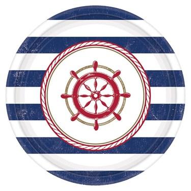 """Nautical 7"""" Cake Plate (8)"""
