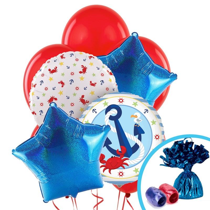 Nautical fun balloon bouquet for Anchor balloon decoration