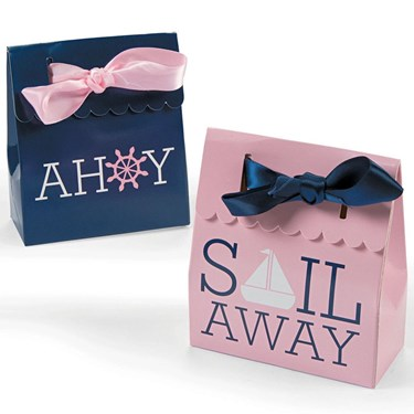 Nautical Pink Favor Boxes (12)