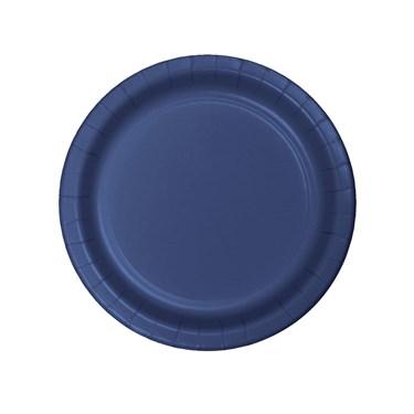 Navy Dessert Plates