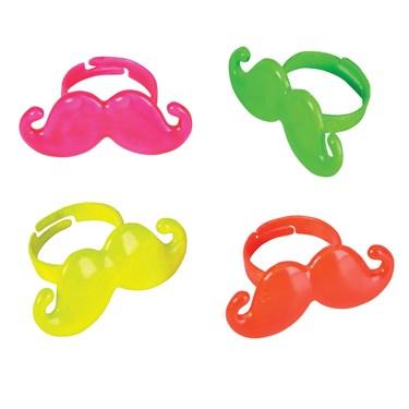 Neon Moustache Ring