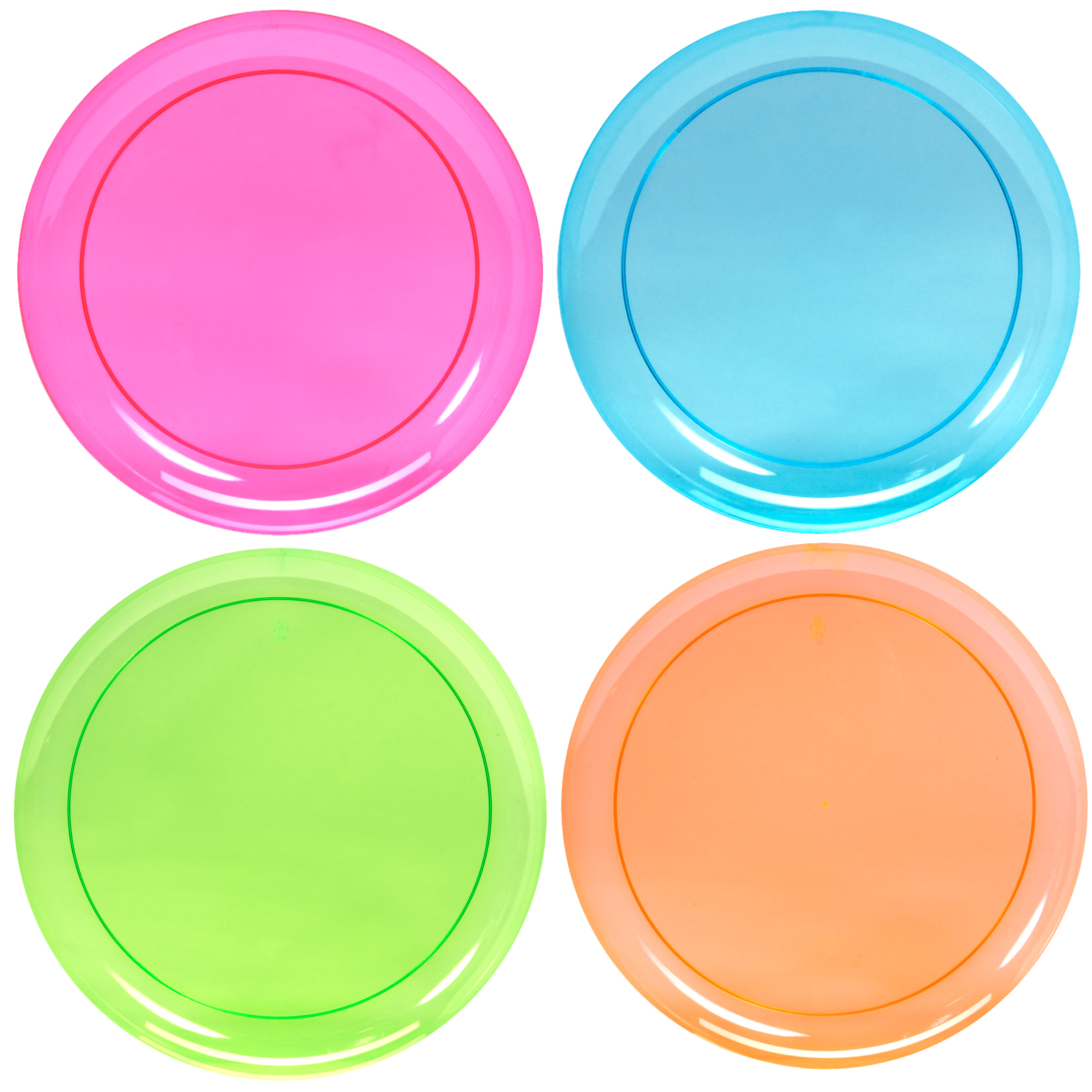 Awesome Default Image   Neon Plastic Dinner Plates Assorted