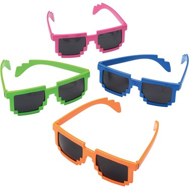 Neon Robot 8-bit Plastic Glasses (1)