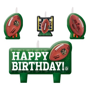 NFL Birthday Candle Set